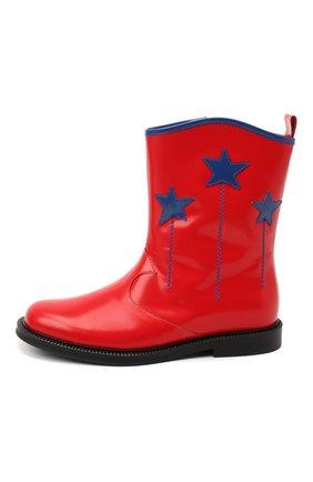 Детские кожаные сапоги GUCCI красного цвета, арт. 629728/D73Y0 | Фото 2