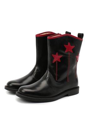 Детские кожаные сапоги GUCCI черного цвета, арт. 629728/D73Y0 | Фото 1