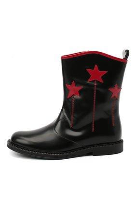 Детские кожаные сапоги GUCCI черного цвета, арт. 629728/D73Y0 | Фото 2