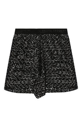 Детская юбка ALBERTA FERRETTI JUNIOR черного цвета, арт. 025369   Фото 1