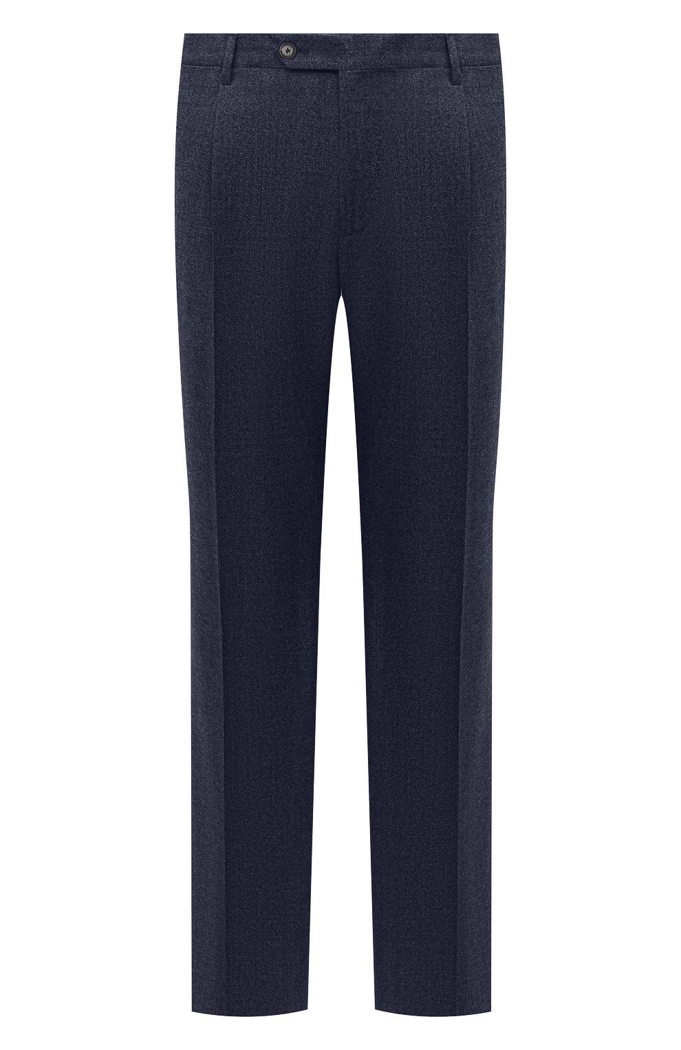 Мужские шерстяные брюки LUCIANO BARBERA темно-синего цвета, арт. 104136/25233/58-62   Фото 1