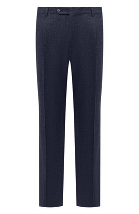 Мужские шерстяные брюки LUCIANO BARBERA темно-синего цвета, арт. 104136/25233/58-62 | Фото 1