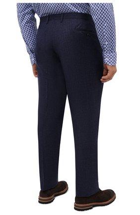 Мужские шерстяные брюки LUCIANO BARBERA темно-синего цвета, арт. 104136/25233/58-62   Фото 4