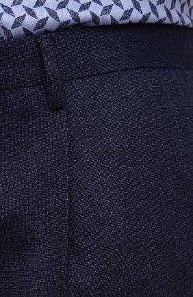 Мужские шерстяные брюки LUCIANO BARBERA темно-синего цвета, арт. 104136/25233/58-62   Фото 5