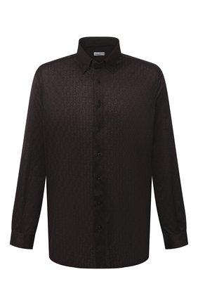Мужская хлопковая рубашка ZILLI коричневого цвета, арт. MFU-56064-@/0007/45-49 | Фото 1