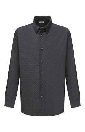 Мужская хлопковая рубашка BRIONI серого цвета, арт. SCDS0L/09032 | Фото 1