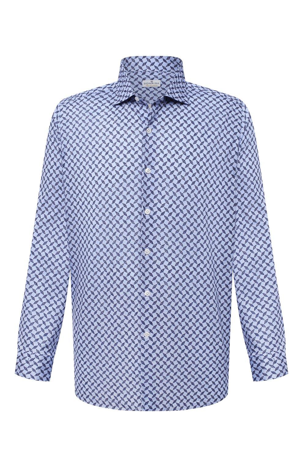 Мужская хлопковая рубашка SONRISA синего цвета, арт. IFJ15/J813/47-51 | Фото 1
