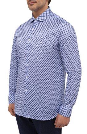 Мужская хлопковая рубашка SONRISA синего цвета, арт. IFJ15/J813/47-51 | Фото 3