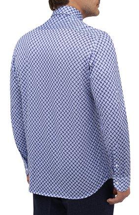 Мужская хлопковая рубашка SONRISA синего цвета, арт. IFJ15/J813/47-51 | Фото 4