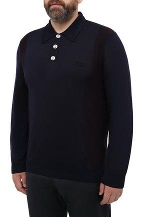 Мужское шерстяное поло BILLIONAIRE темно-синего цвета, арт. W20C MKK0166 BCO025N | Фото 3