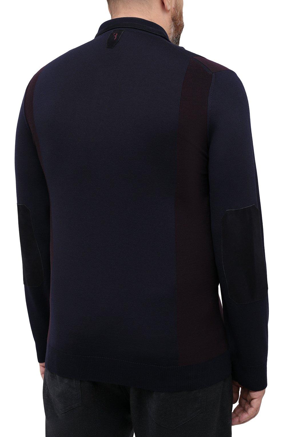Мужское шерстяное поло BILLIONAIRE темно-синего цвета, арт. W20C MKK0166 BCO025N | Фото 4