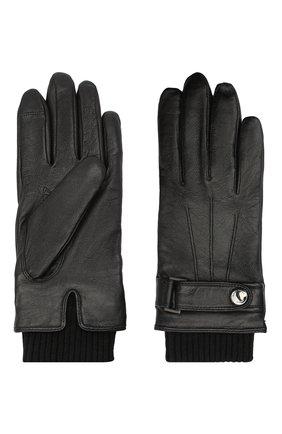 Мужские кожаные перчатки BOSS черного цвета, арт. 50436431 | Фото 2