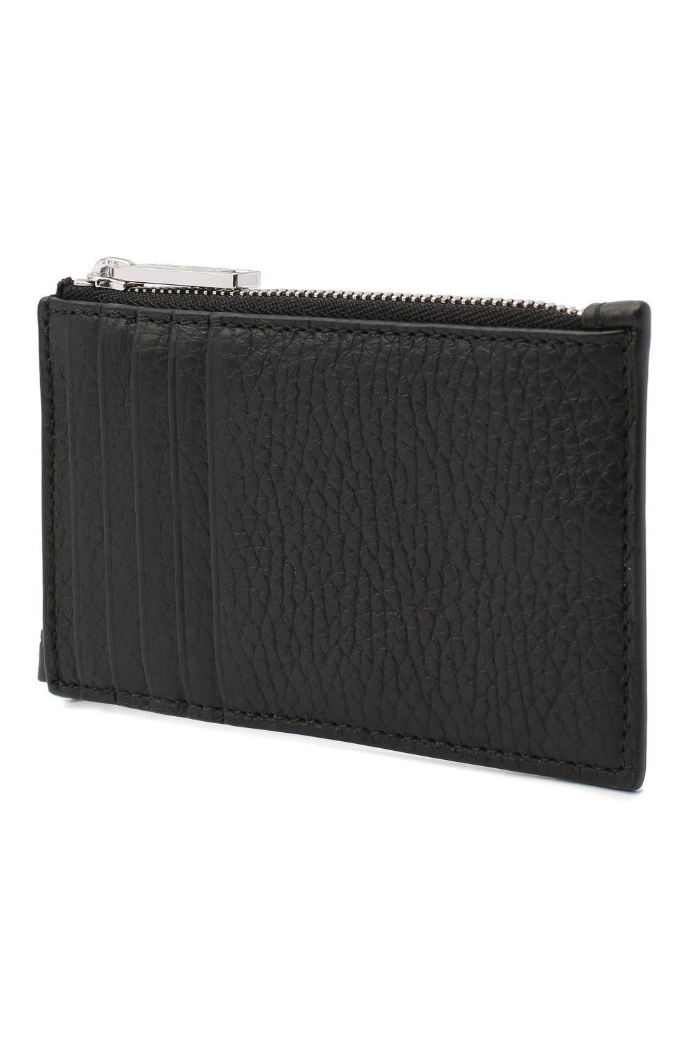 Мужской кожаный футляр для кредитных карт BOSS черного цвета, арт. 50437544 | Фото 2