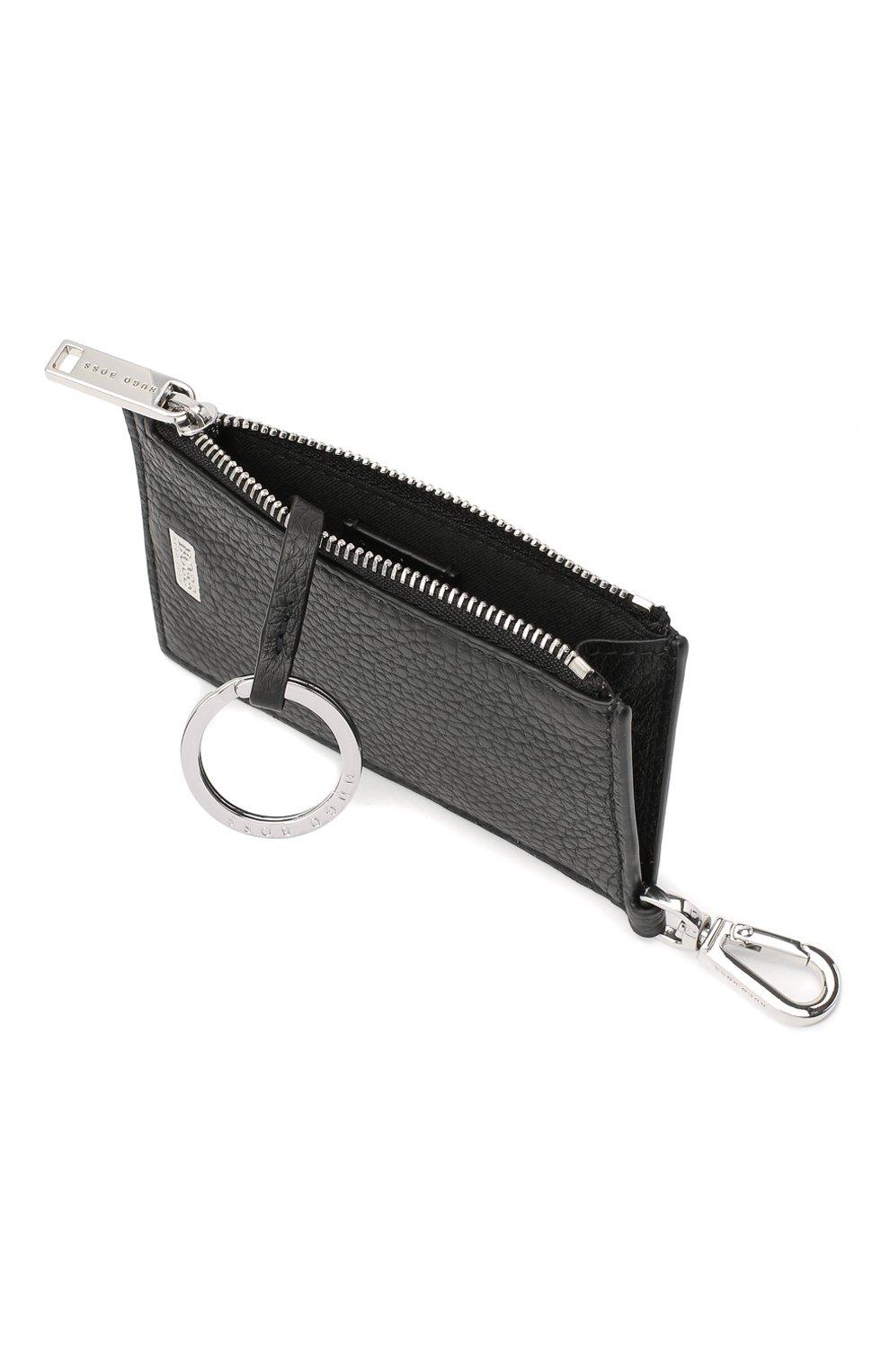 Мужской кожаный футляр для кредитных карт BOSS черного цвета, арт. 50437544 | Фото 3