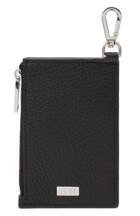Мужской кожаный футляр для кредитных карт BOSS черного цвета, арт. 50437544 | Фото 4