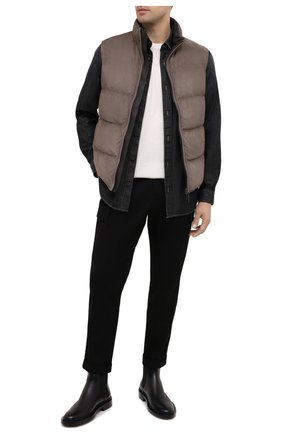 Мужская джинсовая рубашка Z ZEGNA черного цвета, арт. 805403/ZCRN5 | Фото 2