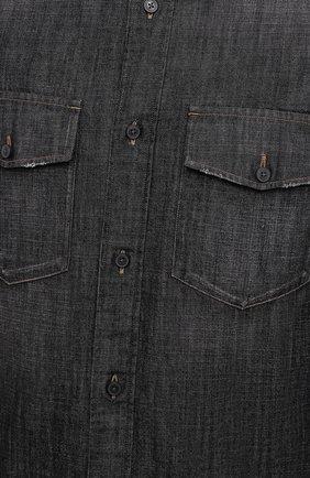Мужская джинсовая рубашка Z ZEGNA черного цвета, арт. 805403/ZCRN5 | Фото 5