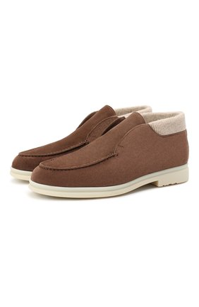 Мужские замшевые ботинки wintery walk LORO PIANA коричневого цвета, арт. FAL4242 | Фото 1