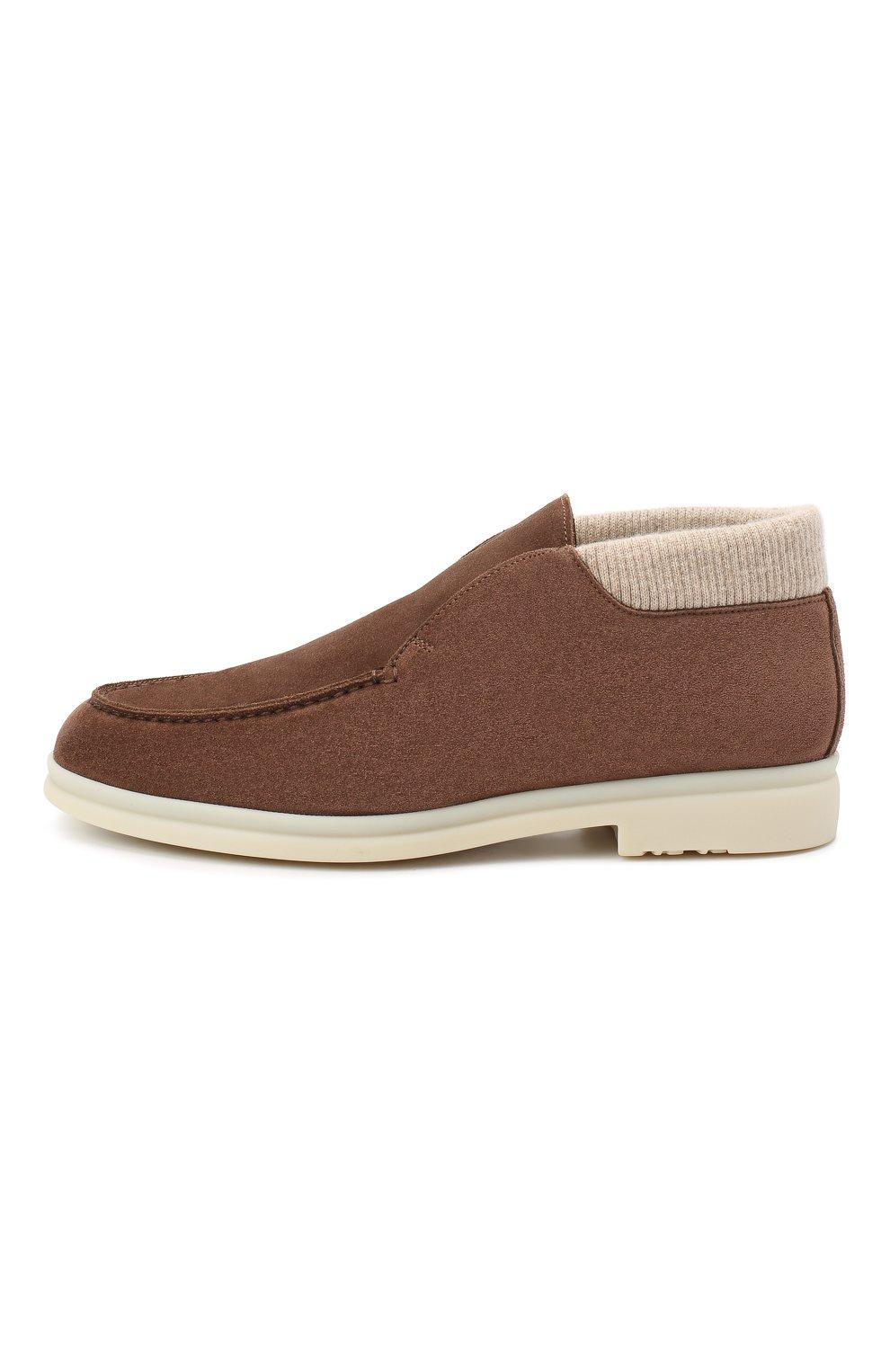 Мужские замшевые ботинки wintery walk LORO PIANA коричневого цвета, арт. FAL4242 | Фото 2