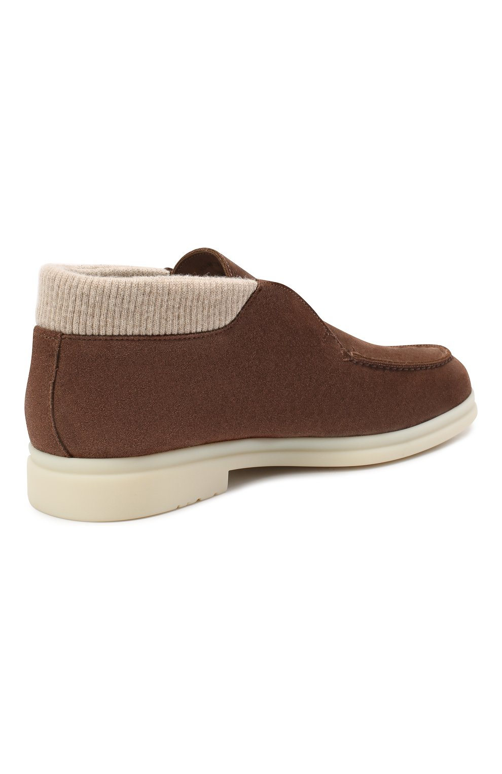 Мужские замшевые ботинки wintery walk LORO PIANA коричневого цвета, арт. FAL4242 | Фото 3