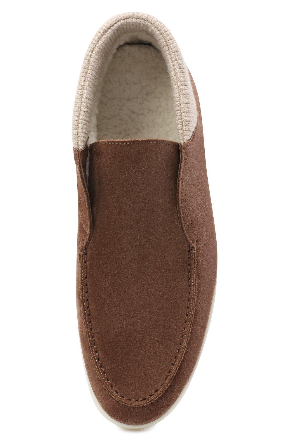 Мужские замшевые ботинки wintery walk LORO PIANA коричневого цвета, арт. FAL4242 | Фото 4