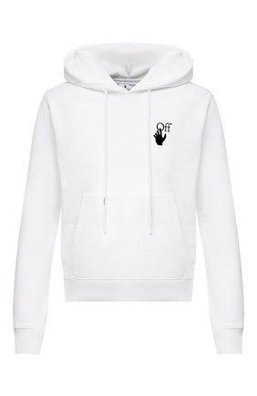 Мужской хлопковое худи OFF-WHITE белого цвета, арт. 0MBB034F20FLE0040110   Фото 1