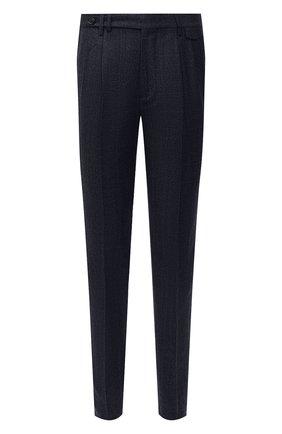 Мужские шерстяные брюки BRUNELLO CUCINELLI темно-синего цвета, арт. ME244E1920 | Фото 1 (Материал внешний: Шерсть; Материал подклада: Вискоза; Длина (брюки, джинсы): Стандартные; Случай: Повседневный; Стили: Кэжуэл)