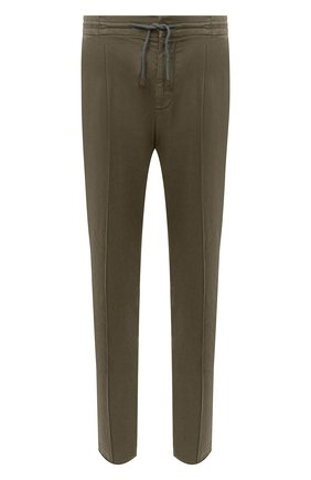 Мужские хлопковые брюки BRUNELLO CUCINELLI хаки цвета, арт. M266LE1740 | Фото 1