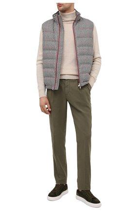 Мужские хлопковые брюки BRUNELLO CUCINELLI хаки цвета, арт. M266LE1740 | Фото 2
