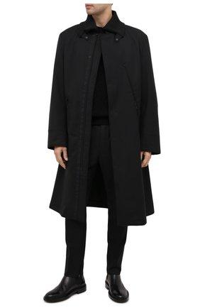 Мужской утепленный плащ Y-3 черного цвета, арт. GK4584/M | Фото 2