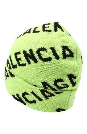 Мужская шерстяная шапка BALENCIAGA зеленого цвета, арт. 621021/T1567 | Фото 2