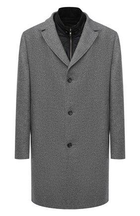 Мужской пальто из шерсти и кашемира EDUARD DRESSLER серого цвета, арт. 800200/76194 | Фото 1