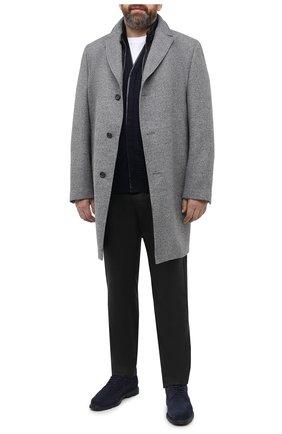 Мужской пальто из шерсти и кашемира EDUARD DRESSLER серого цвета, арт. 800200/76194 | Фото 2