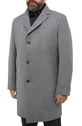 Мужской пальто из шерсти и кашемира EDUARD DRESSLER серого цвета, арт. 800200/76194 | Фото 3