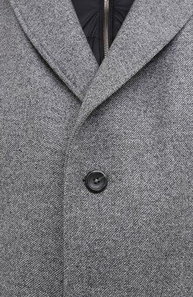 Мужской пальто из шерсти и кашемира EDUARD DRESSLER серого цвета, арт. 800200/76194 | Фото 5