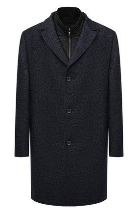 Мужской пальто из шерсти и кашемира EDUARD DRESSLER синего цвета, арт. 800200/76194 | Фото 1