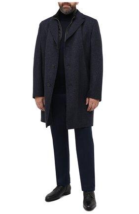 Мужской пальто из шерсти и кашемира EDUARD DRESSLER синего цвета, арт. 800200/76194 | Фото 2