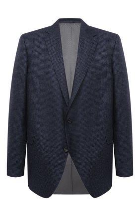 Мужской кашемировый пиджак EDUARD DRESSLER темно-синего цвета, арт. 6431/26076 | Фото 1