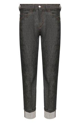 Мужские джинсы NEIL BARRETT черного цвета, арт. BDE300C/P802C | Фото 1