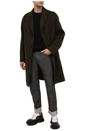 Мужские джинсы NEIL BARRETT черного цвета, арт. BDE300C/P802C | Фото 2