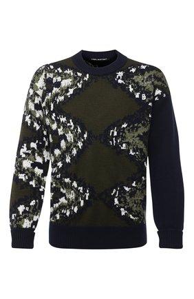 Мужской шерстяной свитер NEIL BARRETT разноцветного цвета, арт. BMA1132/P654C | Фото 1