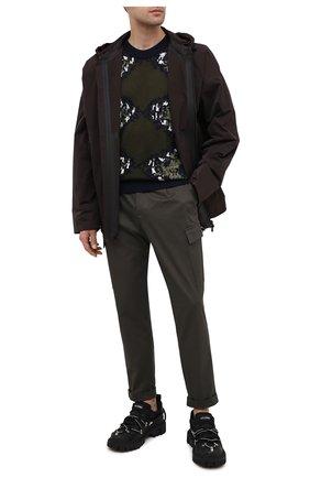 Мужской шерстяной свитер NEIL BARRETT разноцветного цвета, арт. BMA1132/P654C | Фото 2