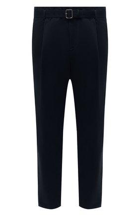 Мужские брюки из хлопка и шерсти NEIL BARRETT темно-синего цвета, арт. BPA817V/P083 | Фото 1