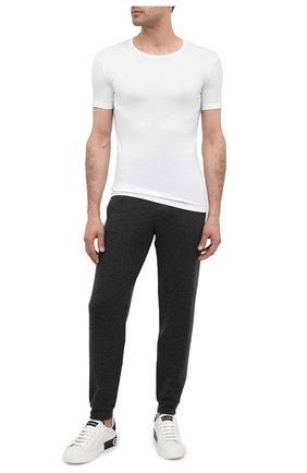 Мужская футболка BALMAIN белого цвета, арт. BRM4A5120 | Фото 2