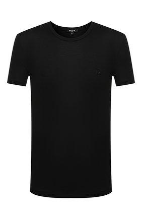 Мужские футболка BALMAIN черного цвета, арт. BRM4A5120   Фото 1
