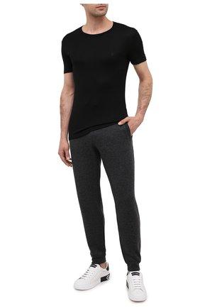 Мужские футболка BALMAIN черного цвета, арт. BRM4A5120   Фото 2
