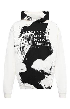 Мужской хлопковое худи MAISON MARGIELA белого цвета, арт. S50GU0151/S25451   Фото 1