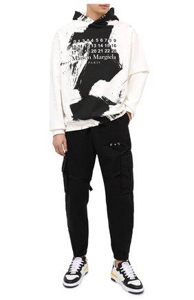 Мужской хлопковое худи MAISON MARGIELA белого цвета, арт. S50GU0151/S25451   Фото 2