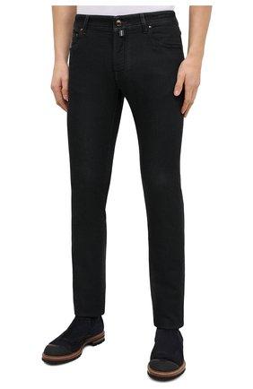 Мужские джинсы JACOB COHEN черного цвета, арт. J622 C0MF 02042-W1/54 | Фото 3