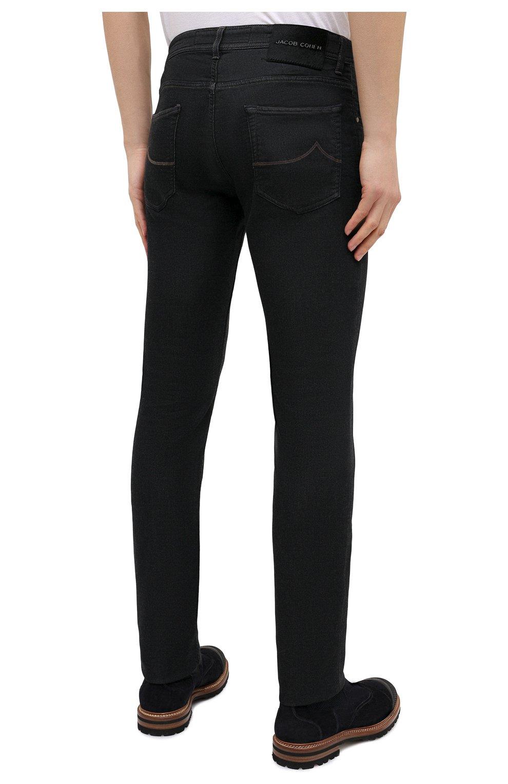 Мужские джинсы JACOB COHEN черного цвета, арт. J622 C0MF 02042-W1/54 | Фото 4